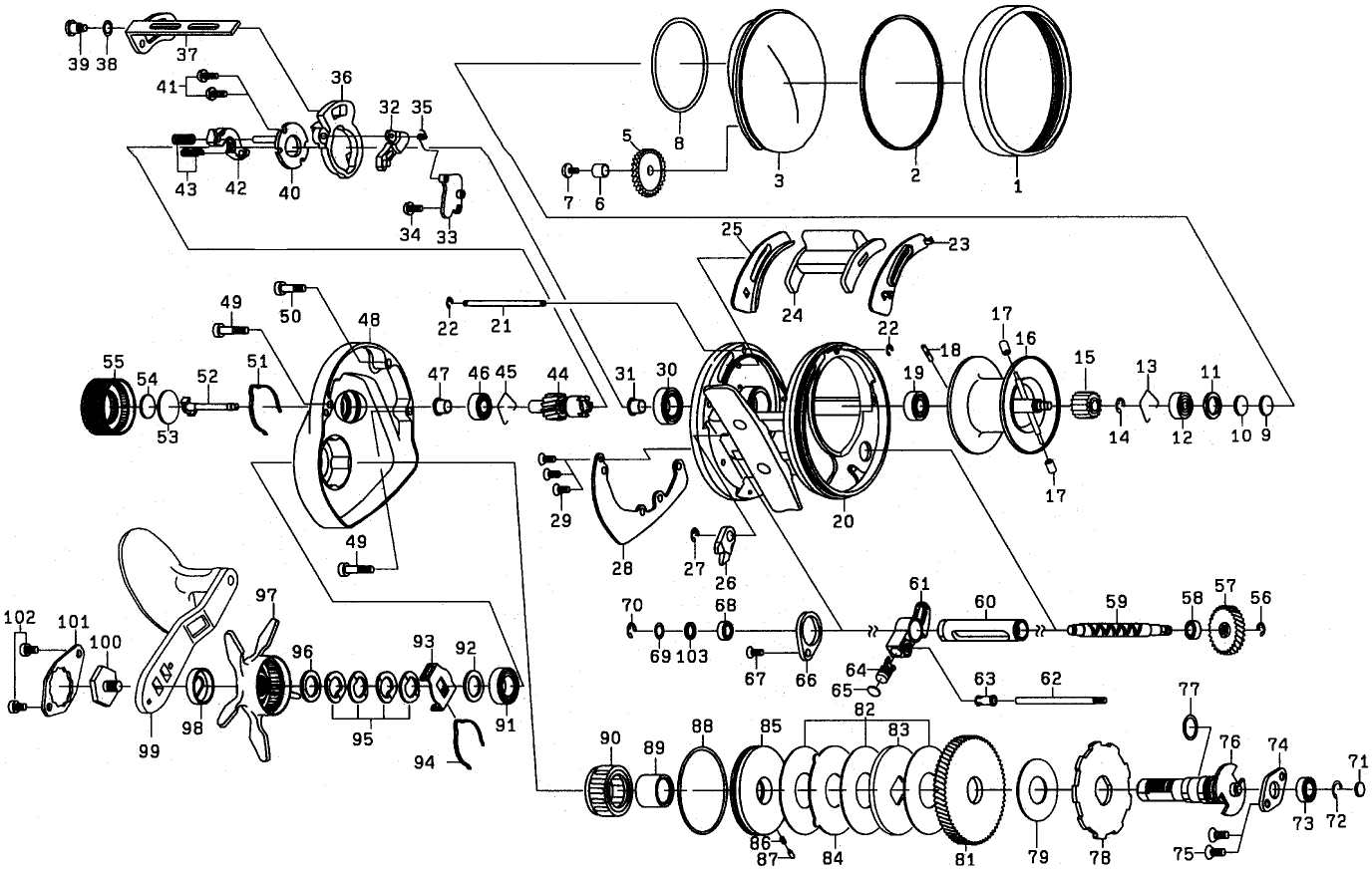 Abu Garcia Reel Parts Diagram   Newmotorjdi.co on